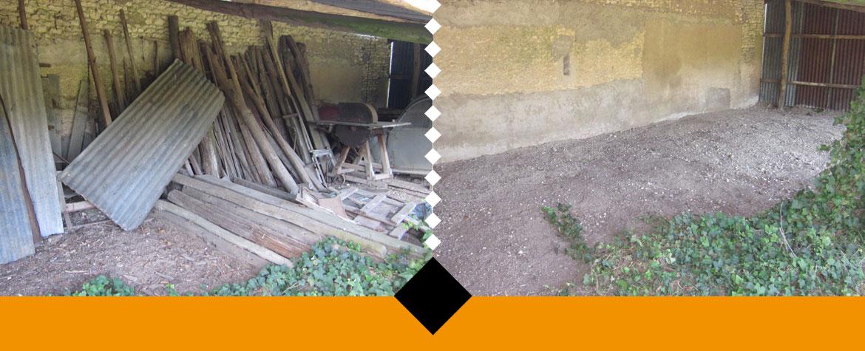 débarras d'une grange à Nantes